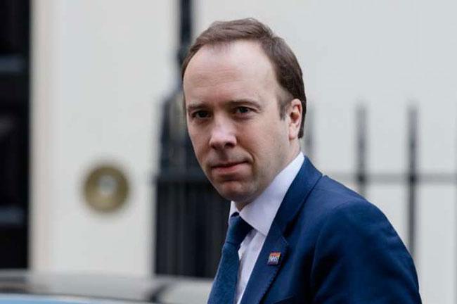 UK Health Secretary tests positive for coronavirus