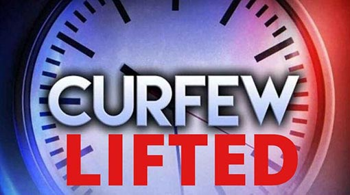 Curfew in all districts except 6 temporarily lifted tomorrow