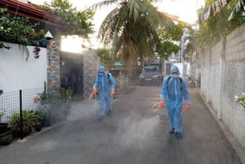Disinfection of populous locations in Puttalam...