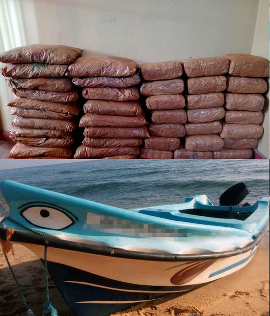 Suspect transporting 114kg of Kerala cannabis by boat arrested
