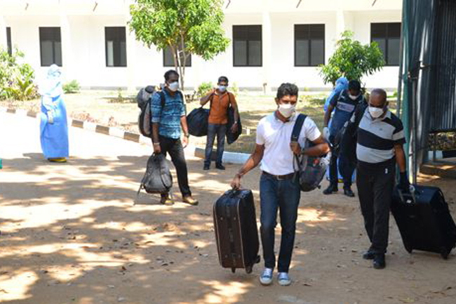 Second group proceeds home after quarantine at Boossa Naval Base