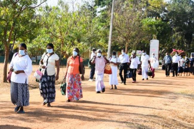 172 returnees at Iranamadu SLAF quarantine centre leave for homes