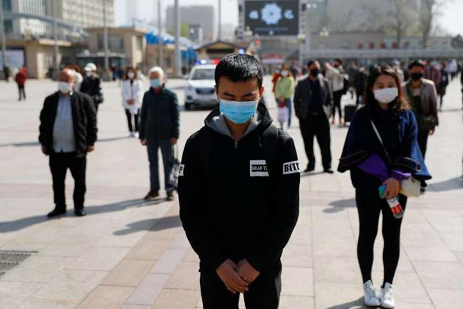 China pauses to mourn lives lost to coronavirus