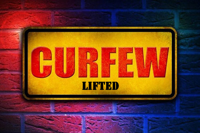 Curfew in 19 districts temporarily lifted