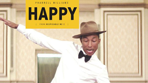 Pharrell William's Happy is most played song of the decade