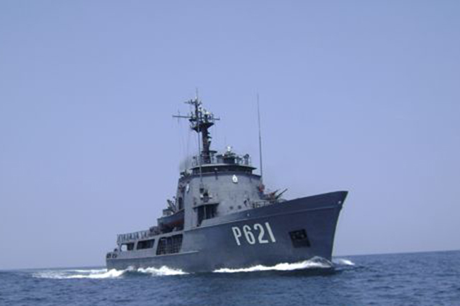 Naval vessel dispatched to assist local fishing trawlers stranded in Indonesian waters