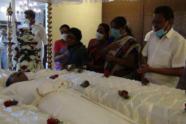 Final rites of late Minister Thondaman on May 31