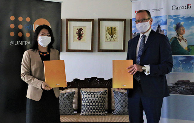 Canada grants CDN$400,000 to UNFPA to strengthen govt. response for COVID-19 pandemic