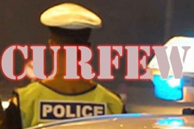 Curfew effective between 11pm and 4am from tonight