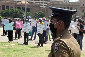 'The Finance' depositors and employees protest...