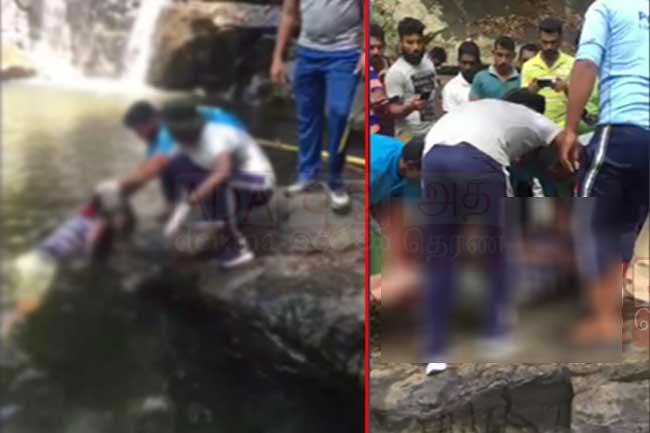 Engaged couple falls off Sera Ella Falls during photoshoot; man dead