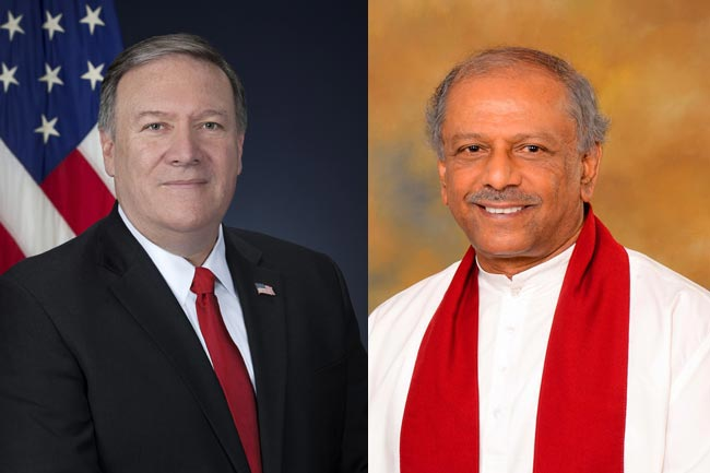 Pompeo affirms US support for Sri Lankan sovereignty