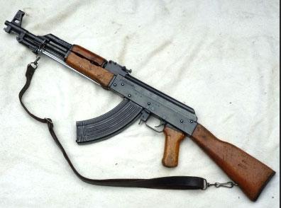 T-56 rifle from underworld weapons stash recovered from Athurugiriya
