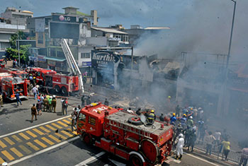Fire at Wellawatte...