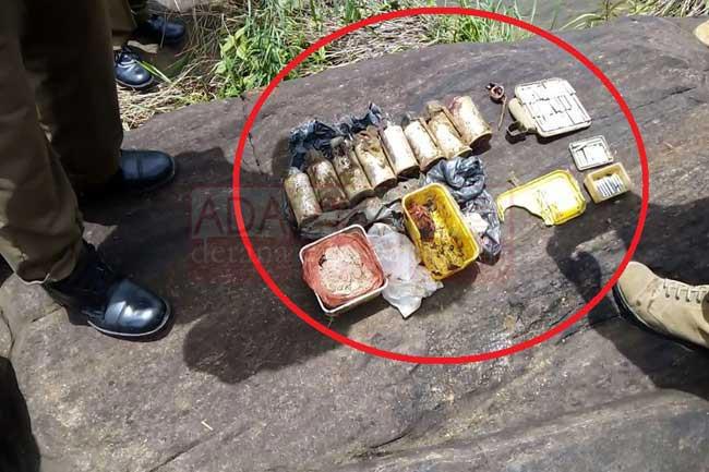 Hidden explosives recovered near Kotmale Oya