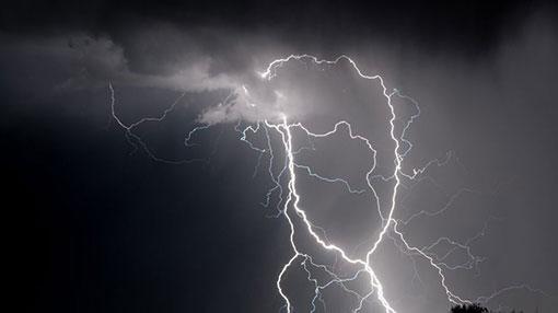 Warning issued for severe lightning