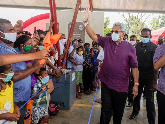President provides solutions to grievances of people in Matale