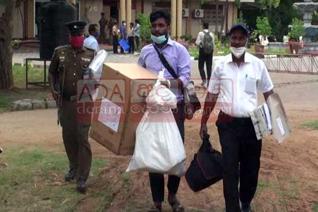 A polling station in Vavuniya relocated