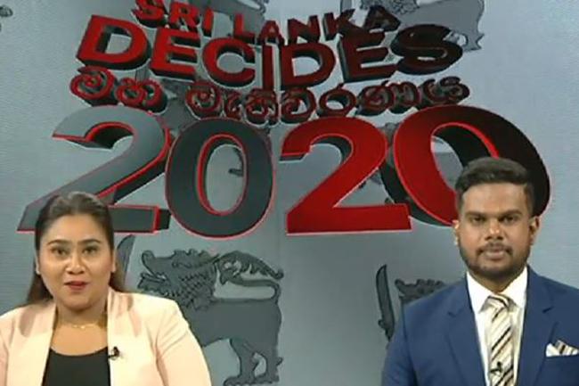 Ada Derana election broadcast 'Sri Lanka Decides' in progress