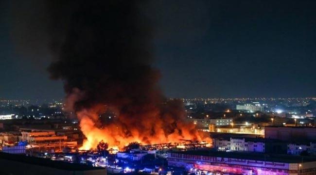 UAE: Massive fire breaks out at market in Ajman