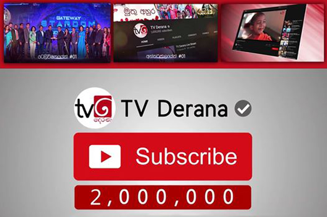 TV Derana becomes first Sri Lankan channel to top 2 million YouTube subscribers