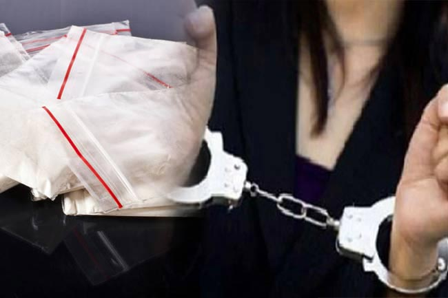 Woman arrested with 380 packets of heroin