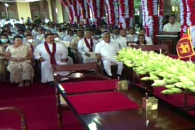 Swearing-in ceremony of new Cabinet & State Ministers begins