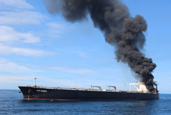 Fire engulfs oil tanker off Sri Lanka…