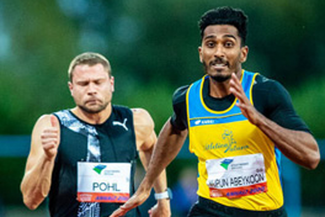 Sprinter Yupun Abeykoon sets new record in Germany