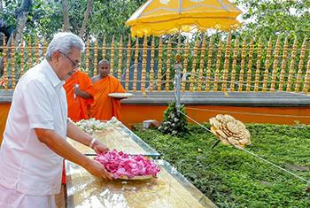 President's visit to Anuradhapura…