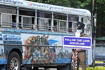 Bus priority lane rule...