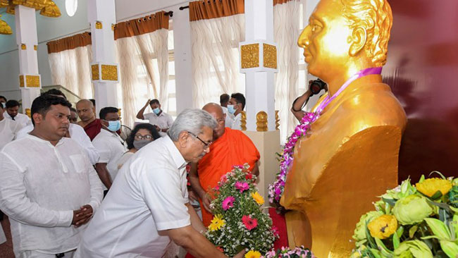 156th birth anniversary commemoration of Anagarika Dharmapala held under patronage of President
