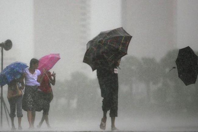 Showery and windy condition to enhance over next few days