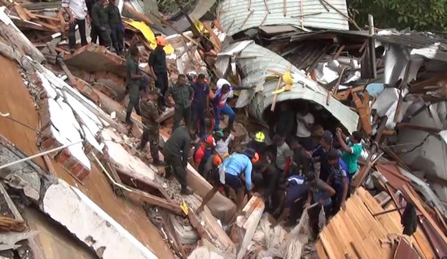 Baby rescued in Buwelikada collapsed building incident dies