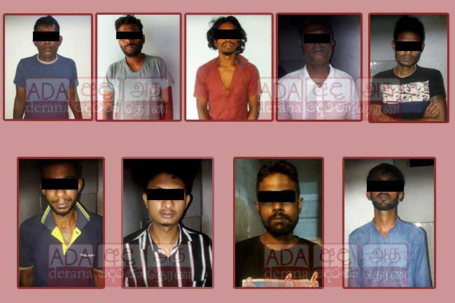Nine arrested with heroin worth nearly Rs. 30 M