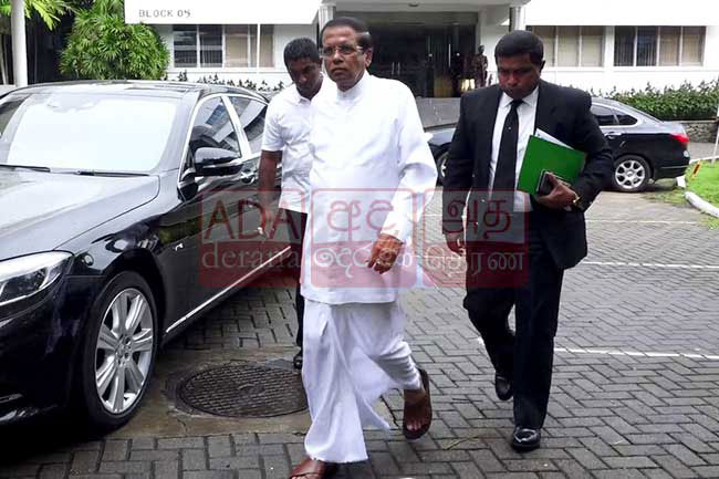 Maithripala arrives at PCoI on Easter attacks as an observer