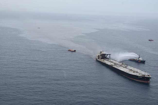 Panel of scientists confirm marine pollution by 'MT New Diamond' oil leak
