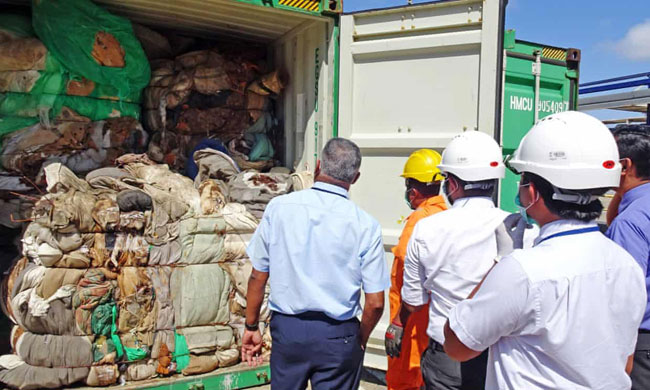 Sri Lanka returns illegal waste to Britain