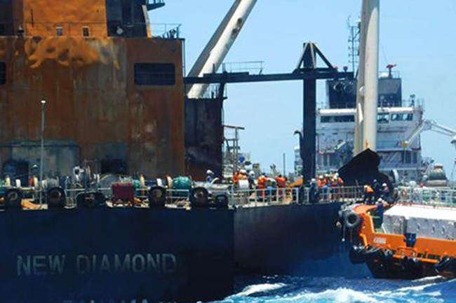 'MT New Diamond' yet to settle claim; vessel not permitted to leave