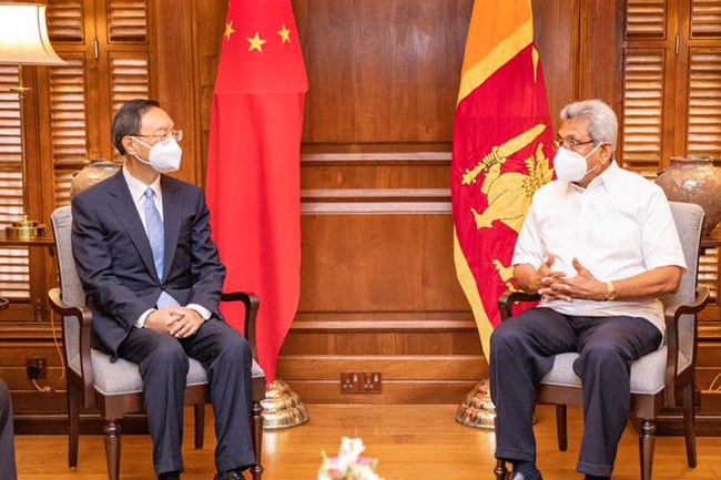 Top-level Chinese delegation calls on President
