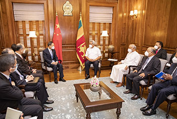 Chinese delegation in Sri Lanka...
