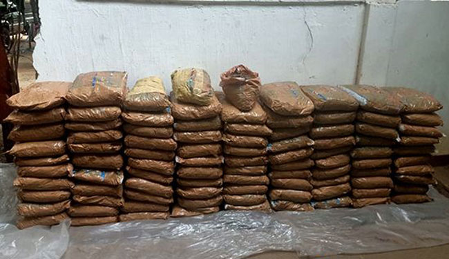 Over 200kg of Kerala cannabis seized in Mannar