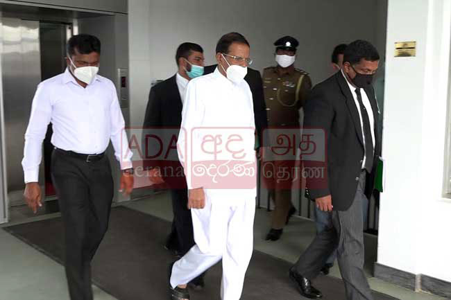 Maithripala arrives at PCoI on political victimizations