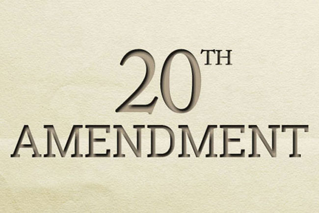 Cabinet approval for proposed changes to 20th Amendment