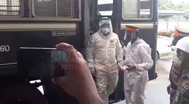 Rishad arrives in Parliament wearing PPE kit