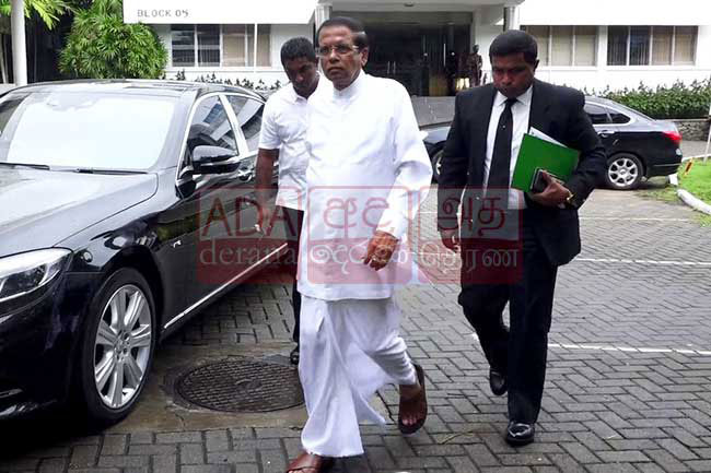 Maithripala arrives at PCoI for fifth day