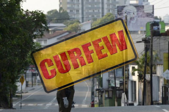 Quarantine curfew for 5 areas in Colombo, Kalutara districts