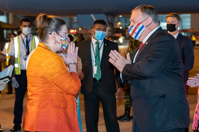 U.S. State Secretary arrives in Sri Lanka