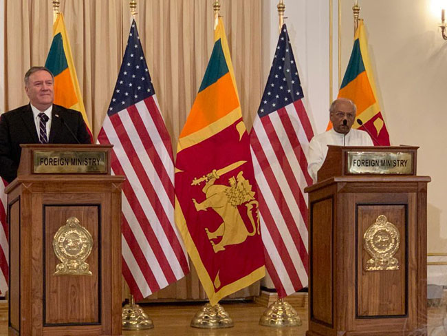 Pompeo-Dinesh hold joint press conference after two-way talks