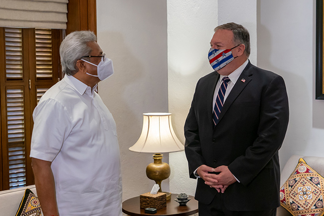 President says Sri Lanka will not be embroiled in spats between power blocs